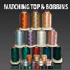 Matching Bobbins & Top Polyester Thread Kits