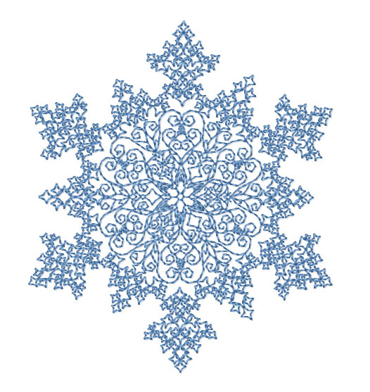 Printable Hawaiian Island Style Paper Snowflakes Folding Patterns