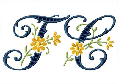 Алфавит для вышивки jef