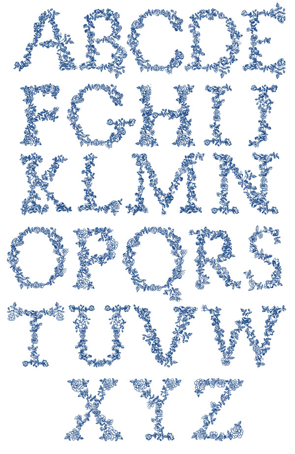 Sewn by Joan(TM) - Free Machine Embroidery Design Links: Alphabets