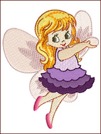Fairy Caelia embroidery design