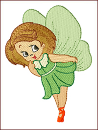 Fairy Gaea embroidery design