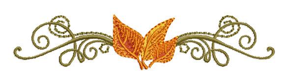 Abc designs fall motifs machine embroidery set