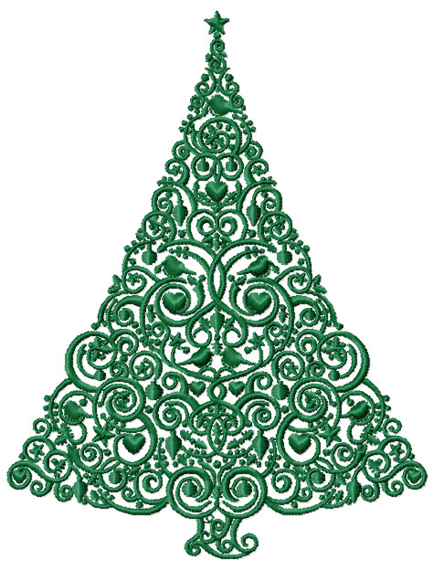 Design embroidery free machine tree « origami