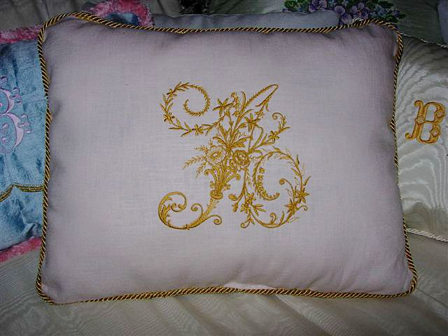 ABC: Embroidery Projects, Pillow with Victorian Whitework machine ...