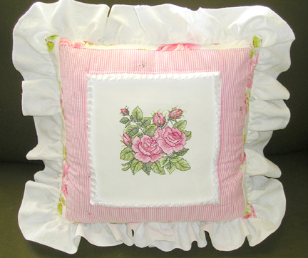 Abc Embroidery Projects Cottage Rose Quilt Pillow