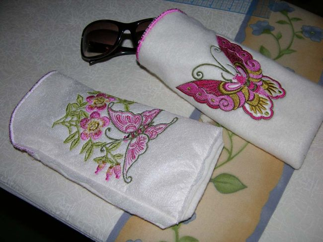 ABC: Embroidery Projects, FleeceSunglassCases