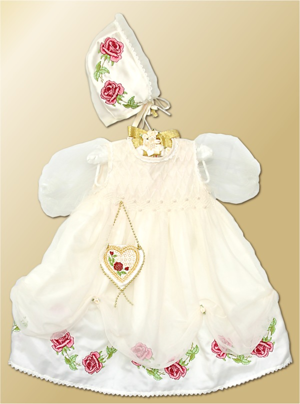 ABC: Embroidery Projects, Baptizing Dress with Roses