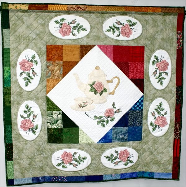 Free Quilt Embroidery Designs Leatherette Cushion Swivel