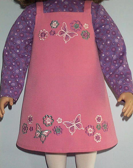 Abc embroidery projects butterflies doll dress