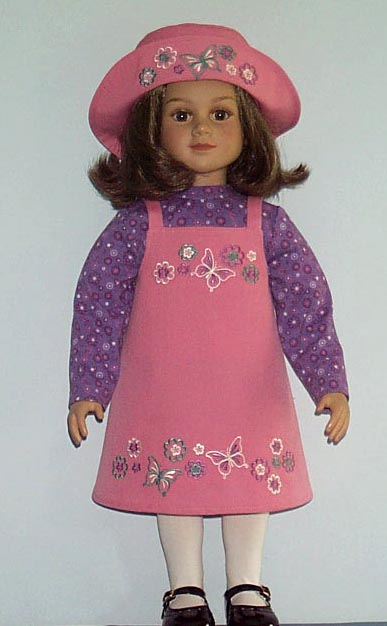 ABC: Embroidery Projects, butterflies doll dress - Unusual Machine Embroidery Designs
