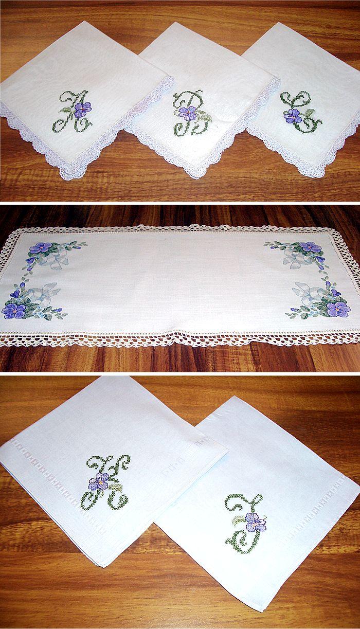 Crocheted Linen Tablerunner