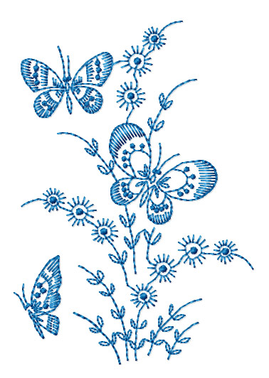 Abc designs redwork butterflies machine embroidery designs for Embroidery office design version 7 5