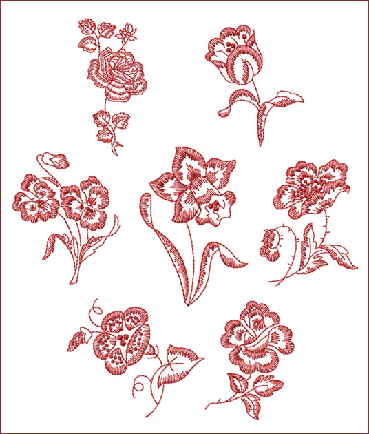 Machine Embroidery Designs In Floral Motifs Images
