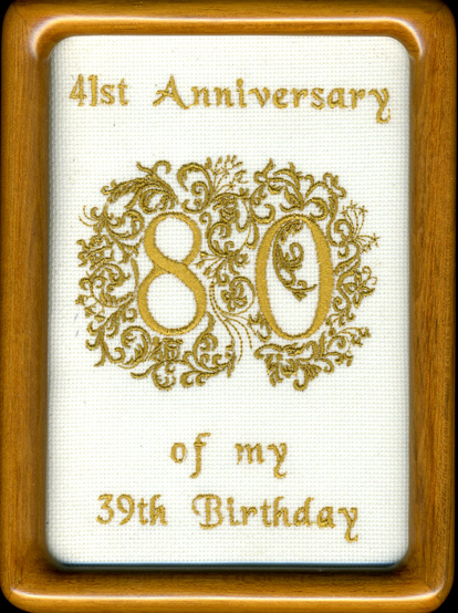 80th Birthday Frame